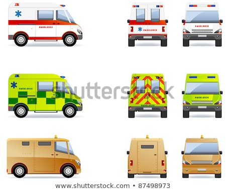 yellow ambulance van stock photo © lkeskinen