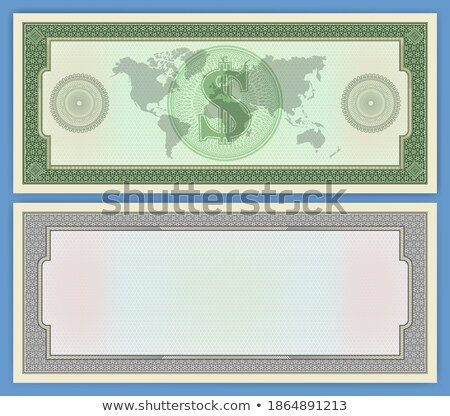 Retro template certificate with seals example Stock photo © ElaK