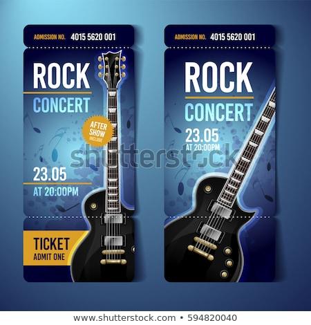 Abstract musicale chitarra rock band concerto modello Foto d'archivio © pathakdesigner