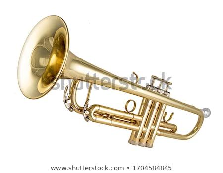 Música trombeta papel metal chave jazz Foto stock © mariephoto