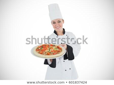 молодые · повар · подготовленный · итальянский · пиццы · кухне - Сток-фото © photography33