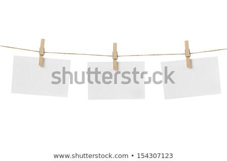 Jegyzetek ruházat üzlet keret felirat űr Stock fotó © grafvision