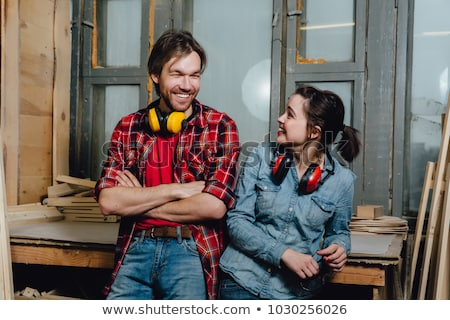 craftsman and apprentice posing together Stock photo © photography33