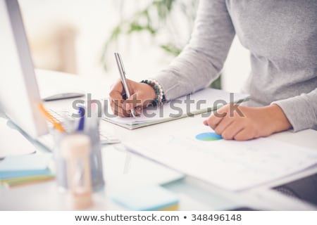 hands of accountant business woman stock photo © kurhan