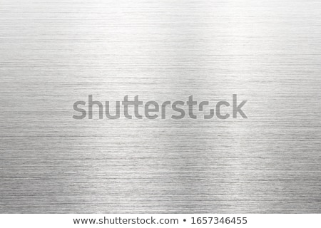 Stock photo: fine brushed steel metal
