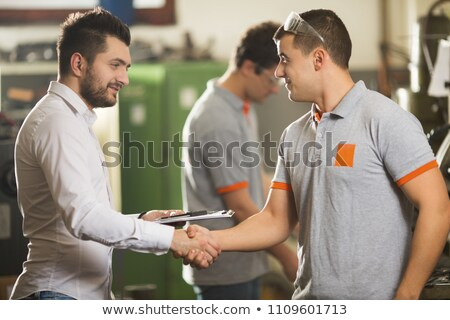 two manual worker shaking hands stock photo © photography33