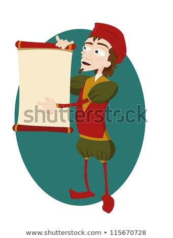 Vicces mutat tekercs vektor rajz copy space Stock fotó © pcanzo