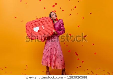 lovely girl with orange hair stock photo © dolgachov