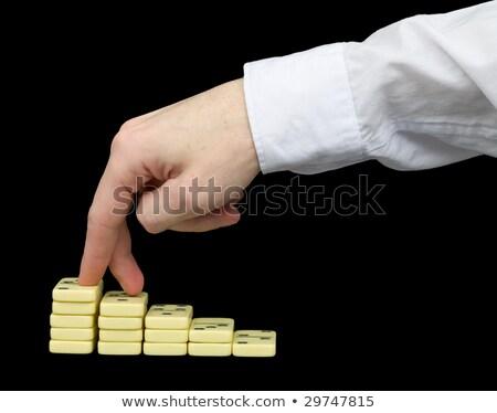 Benen kleur dobbelstenen witte spel tegels Stockfoto © pzaxe