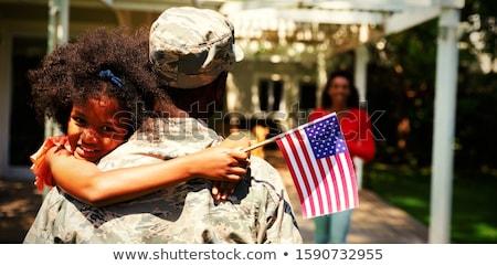 Asker kadın güzel kadın iç çamaşırı rehin Stok fotoğraf © acidgrey