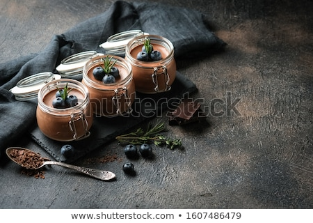 chocolate mousse in egg cup stock photo © m-studio