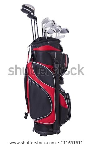 Táska golfütők oktatás csoport klub fekete Stock fotó © shutswis