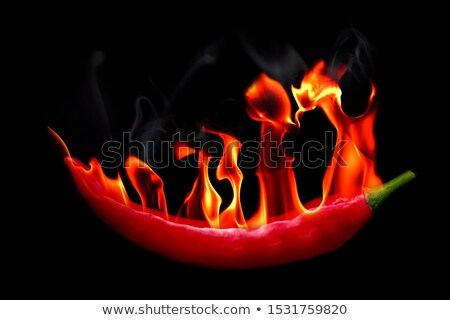 Smoking Hot Red Jalapeno Pepper (Capsicum Annuum) Stock photo © gabes1976