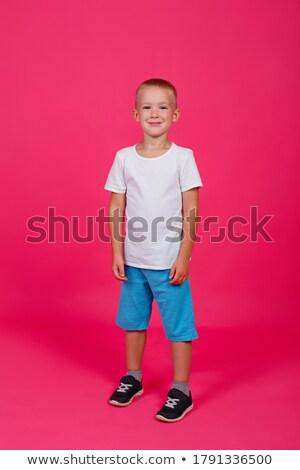 ストックフォト: かわいい · 小さな · 白人 · 子 · ポーズ · 肖像