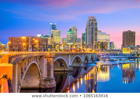 downtown minneapolis minnesota in the evening stock photo © andreykr