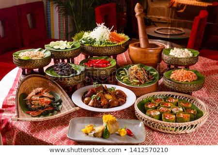 продовольствие куриные пластина ресторан приготовления обед Сток-фото © ldambies