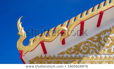 decoração · buda · templo · telhado · céu · madeira - foto stock © zmkstudio