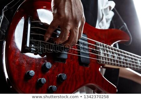 nehézfém · basszus · gitáros · gitáros · játszik · színpad - stock fotó © upimages