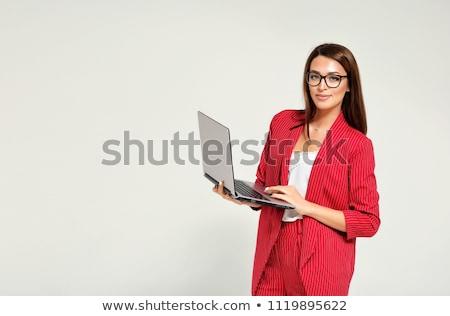 Mulher jovem vermelho moda modelo casa beleza Foto stock © acidgrey