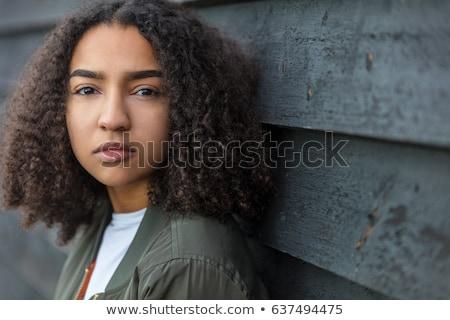 güzel · genç · kadın · tutum · beyaz · kadın - stok fotoğraf © pablocalvog