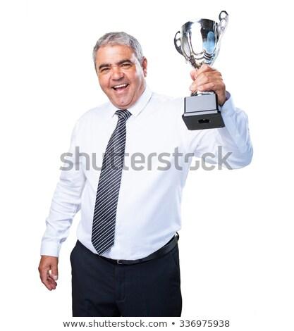 чемпион старший деловой человек Постоянный победу белый Сток-фото © get4net