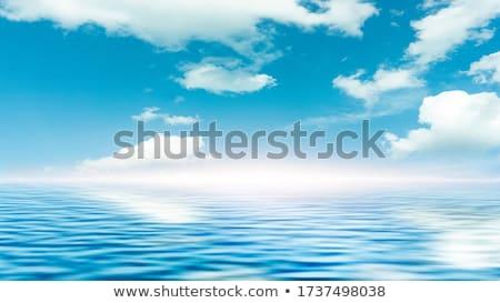 Bulutlar mavi su yansımalar göl Stok fotoğraf © rhamm