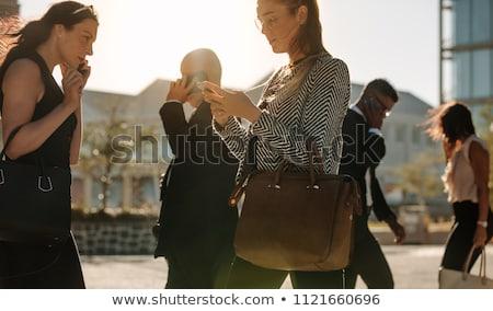 üzletasszony telefon üzletember üzlet nő férfi Stock fotó © photography33