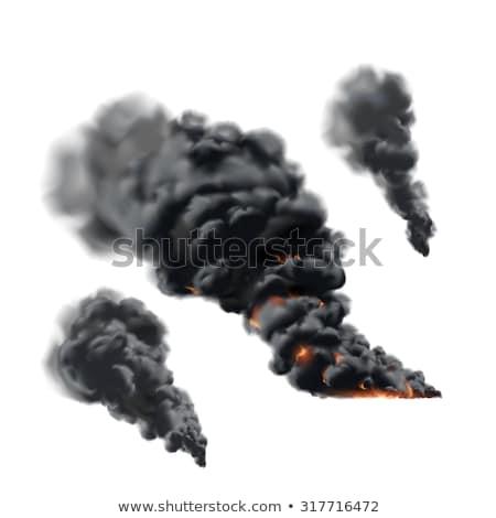 Сток-фото: огня · дым · оранжевый · ночь · энергии · темно