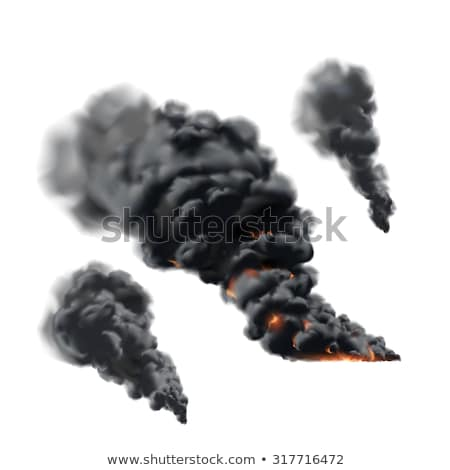 fogo · fumar · laranja · noite · energia · escuro - foto stock © Vladimir