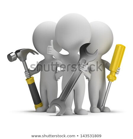 3d small people   excellent repairers stock photo © anatolym