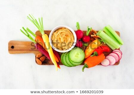 растительное свежие овощи служивший перчинка одевание мелкий Сток-фото © rohitseth