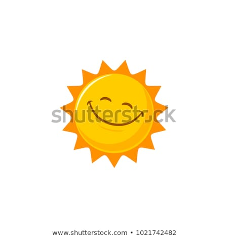 ストックフォト: 笑みを浮かべて · 太陽 · アイコン · 顔 · 光 · 夏