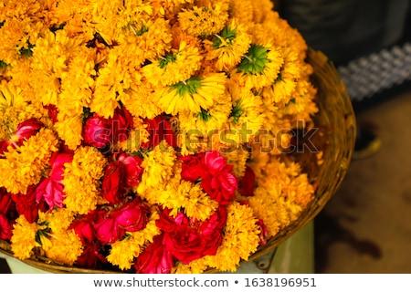 Basket with marigold Stock photo © MKucova
