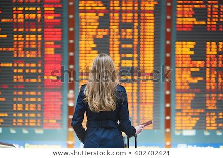 businesswoman in airport stock photo © ssuaphoto