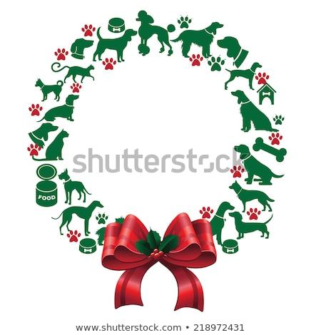 Pets Holiday Wreath Stock photo © Lightsource