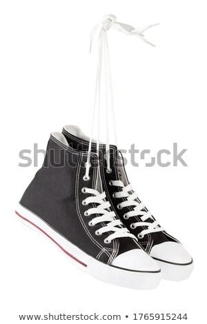 bruin · schoenen · geïsoleerd · witte · sport · fitness - stockfoto © andreypopov