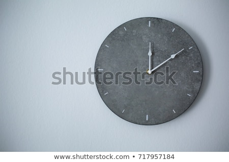 Stock photo: wall clock face grey