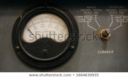 Amper eski bağbozumu elektrik araç ölçek Stok fotoğraf © c-foto