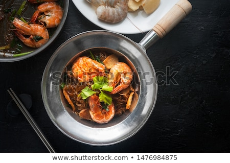 casserole with shrimps and ingredients Stock photo © M-studio