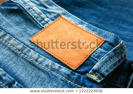 blank leather jeans label stock photo © taigi
