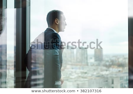 young business man on balcony Stock photo © feedough