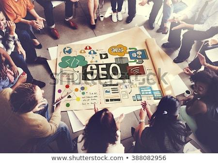 Seo grupo abstrato rede marketing pesquisar Foto stock © burakowski