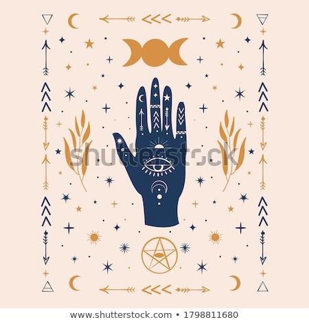 Hand with a Pentacle Stock photo © shawlinmohd