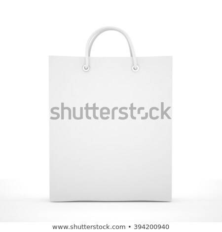 Shoping bag on white. Isolated 3D image stock photo © ISerg
