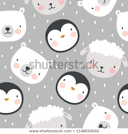 かわいい · 羊 · 草原 · 立って · 花 - ストックフォト © elmiko