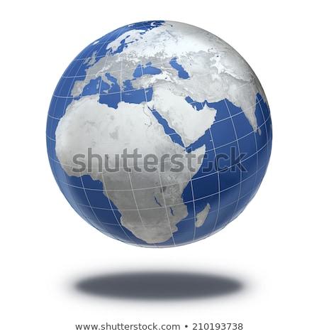 Amerika zilver globale wereld noorden Stockfoto © fenton