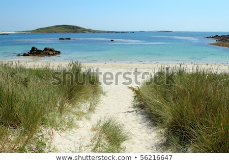Path to Rushy Bay beach in Bryher, Isles of Scilly Cornwall UK. Stock photo © latent