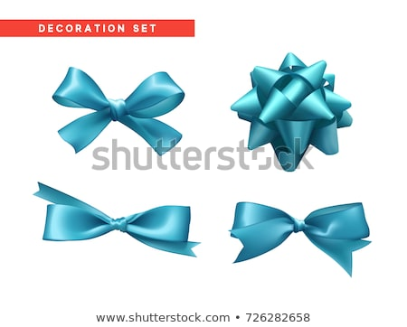 Conjunto natal azul arco isolado branco Foto stock © impresja26