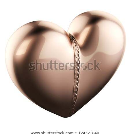 Golden Pendant In Heart Shape With Weld Bead Stock photo © vizarch