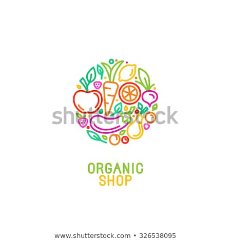 Vegetáriánus étel logo ikon étel egészség háttér Stock fotó © digitalldesign